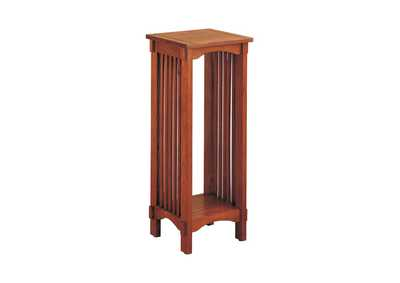 Warm Brown Mission Traditional Oak Plant Stand