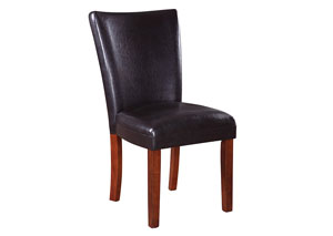 Cherry Telegraph Brown Parson Side Dining Chair
