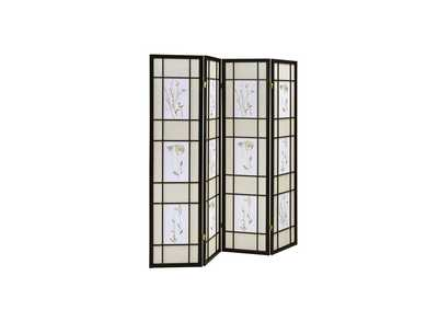 Image for Swirl Transitional Black Folding Screen