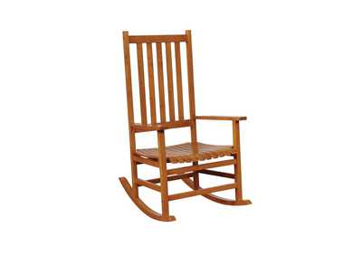 Image for Warm Brown Traditional Wood Rocking Chair