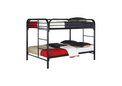 Gallery Fordham Black Full-Over-Full Bunk Bed