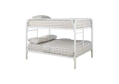Gallery Fordham White Full-Over-Full Bunk Bed