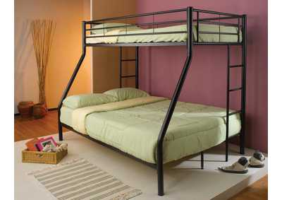 Saddle Denley Metal Twin-over-Full Bunk Bed,Coaster Furniture