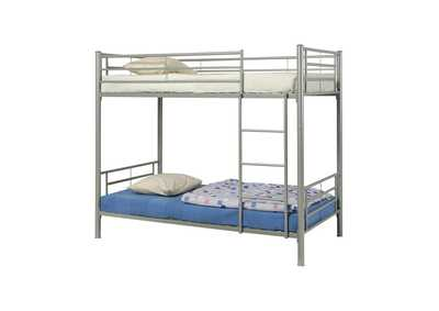 Image for Satin Linen Denley Metal Twin-over-Twin Bunk Bed