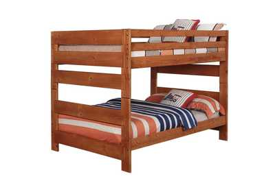 Image for Cumin Wrangle Hill Amber Wash Full-over-Full Bunk Bed