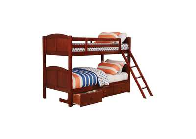 Parker Chestnut Panel Twin-over-Twin Bunk Bed