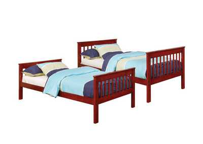 Parker Chestnut Twin-over-Twin Bunk Bed,Coaster Furniture