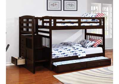 Dublin Cappuccino Twin/Twin Bunk Bed w/Trundle