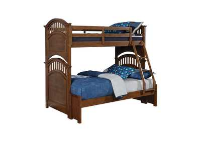 Millbrook Halsted Casual Walnut Twin-over-Full Bunk Bed