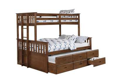 Quincy Atkin Weathered Walnut Twin XL-over-Queen Bunk Bed