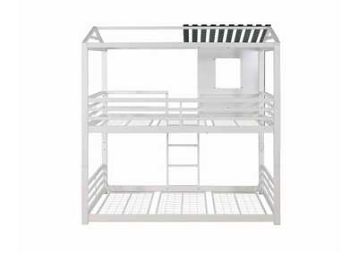 Mischka Belton Light Grey Twin-over-Twin Bunk Bed,Coaster Furniture