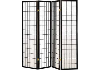 Image for Cultured Pearl Transitional Black Four-Panel Screen