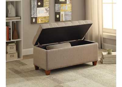 Brown Tufted Taupe Storage Dining Bench,Coaster Furniture