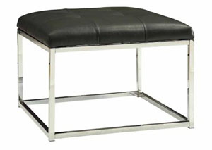 Image for Chrome Contemporary Charcoal and Ottoman