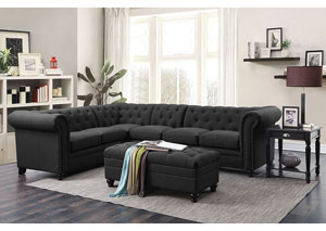Image for Black Sectional