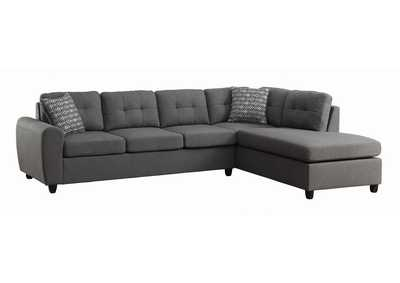 Image for Tundora Stonenesse Contemporary Grey Sectional