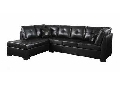 Eerie Black Darie Contemporary Black Sectional