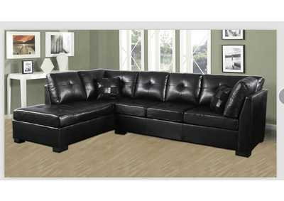 Eerie Black Darie Contemporary Black Sectional,Coaster Furniture