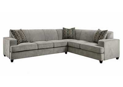 Tess Grey L-Shape Sleeper Sectional