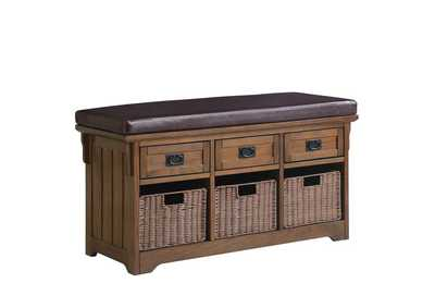 Image for Medium Brown Traditional Medium Brown Dining Bench