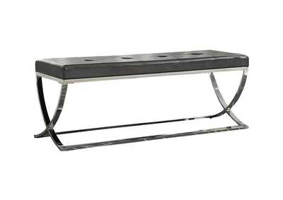 Chrome Contemporary Chrome Dining Bench