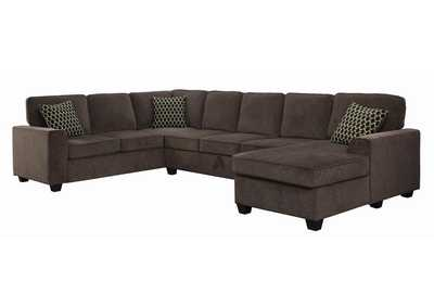 Black Provence Transitional Brown Sectional,Coaster Furniture