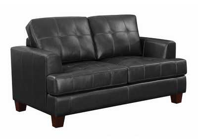 Image for Dark Brown Samuel Transitional Black Loveseat Sleeper
