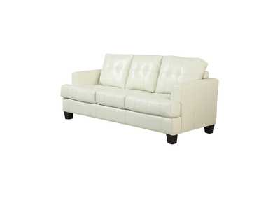 Image for Satin Linen Samuel Transitional Cream Sleeper Sofa