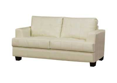Image for Cappuccino Samuel Cream Loveseat