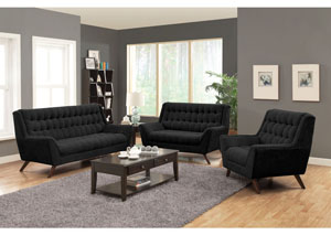 Image for Black Sofa & Loveseat