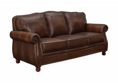 Cedar Montbrook Traditional Hand Rubbed Brown Sofa