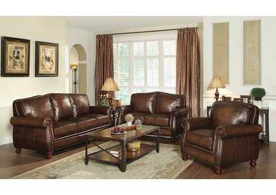 Metallic Bronze Montbrook Traditional Hand Rubbed Brown Chair,Coaster Furniture