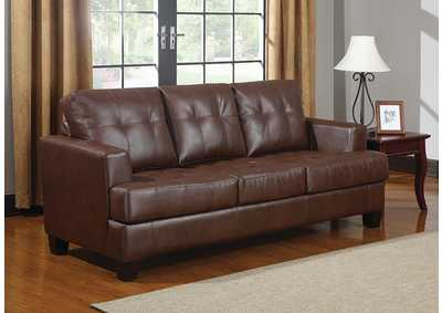 Image for Samuel Upholstered Sleeper Sofa Dark Brown
