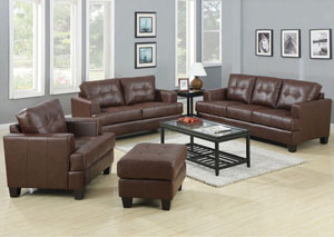 Image for Samuel Dark Brown Sofa and Loveseat