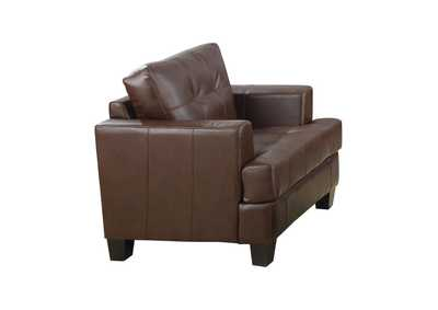 Samuel Upholstered Chair Dark Brown