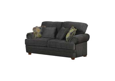 Image for Brown Colton Traditional Smokey Grey Loveseat