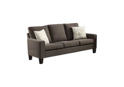 Image for Black Bachman Transitional Grey Sofa