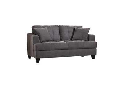 Image for Samuel Tufted Loveseat Charcoal