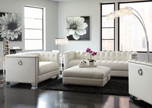 Image for White Tufted Sofa & Loveseat