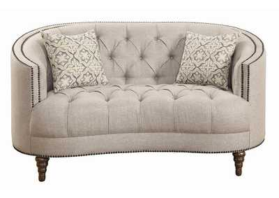 Ash Avonlea Traditional Beige Loveseat,Coaster Furniture