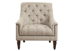 Brown Avonlea Traditional Beige Arm Chair,Coaster Furniture