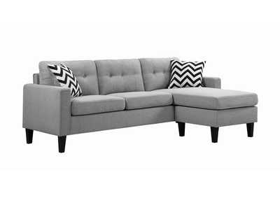 Image for Metro Tufted Upholstered Reversible Sectional Light Grey