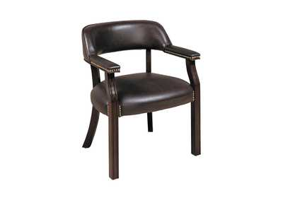 Mine Shaft Burgundy Leatherette Office Chair