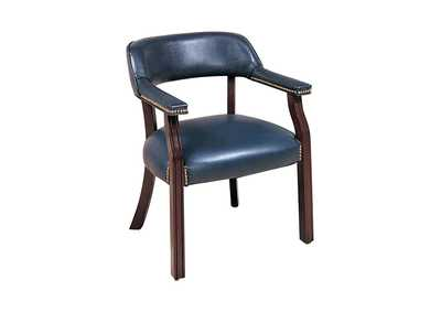 Image for Oxford Blue Traditional Blue Home Office Chair