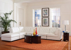 Quinn White Modular Sectional