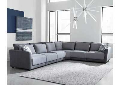 Image for Seanna Two-Tone Grey 6 Piece Sectional Sofa W/ Corner