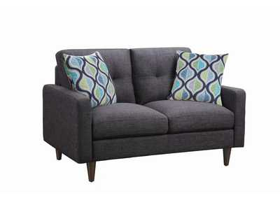 Thunder Watsonville Retro Grey Loveseat