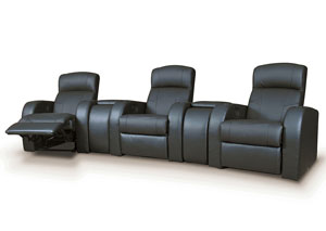 Image for Cyrus 3-Seat Theater Seating (Black)