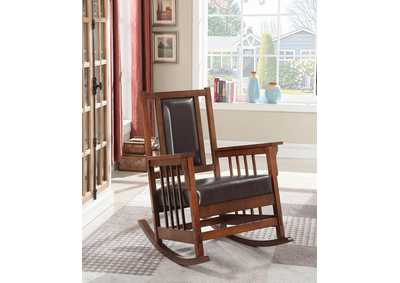 Tobacco Traditional Tobacco Rocking Chair,Coaster Furniture