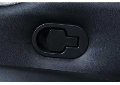 Image for Cod Gray Pavillion Black Leather Three-Seated Recliner